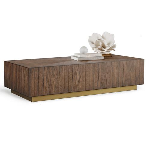 Continental Designs Walnut Sariyah Block Coffee Table