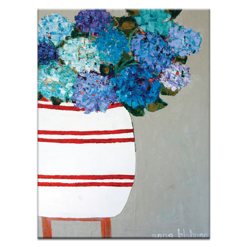 Blue Geraniums By Anna Blatman Wall Art Temple Amp Webster