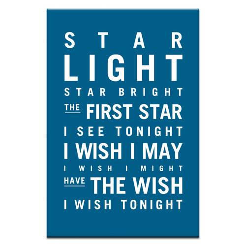 Star Light Star Bright >> Nursery Art Star Light Star Bright Stretched Canvas Temple Webster