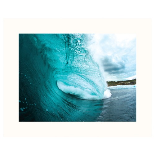 Our Artists' Collection Turquoise Wave  Printed Wall Art
