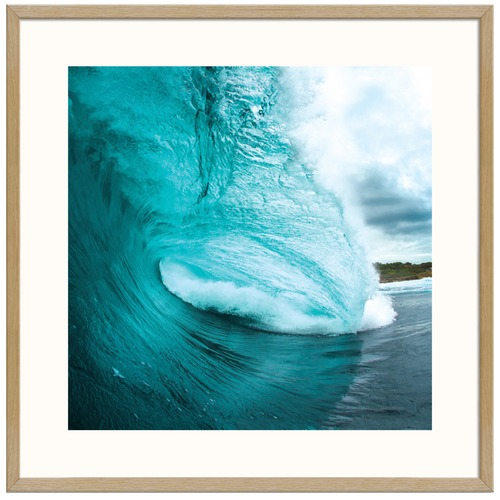 Turquoise Wave Square Printed Wall Art