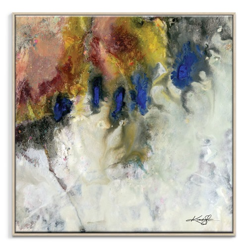 Our Artists' Collection Encaustic Abstract 44 Canvas Wall Art by Kathy Morton-Stanion