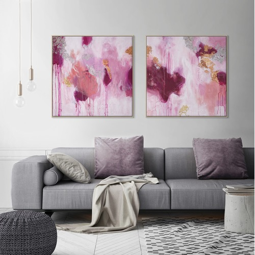 Our Artists' Collection Light My Fire 1 Canvas Wall Art by Julie Ahmad