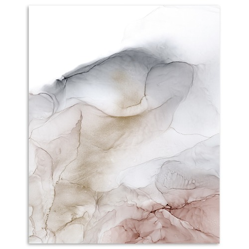 Our Artists' Collection Pale Rose Abstract Printed Wall Art by Fern Siebler
