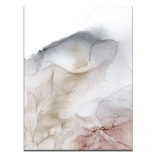 Pale Rose Abstract Printed Wall Art