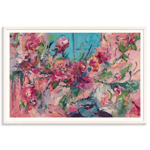 Our Artists' Collection Flowers On The Windowsill Printed Wall Art by Amira Rahim