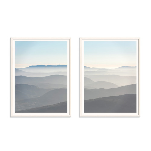 Our Artists' Collection 2 Piece Misty Mountains Printed Wall Art Set