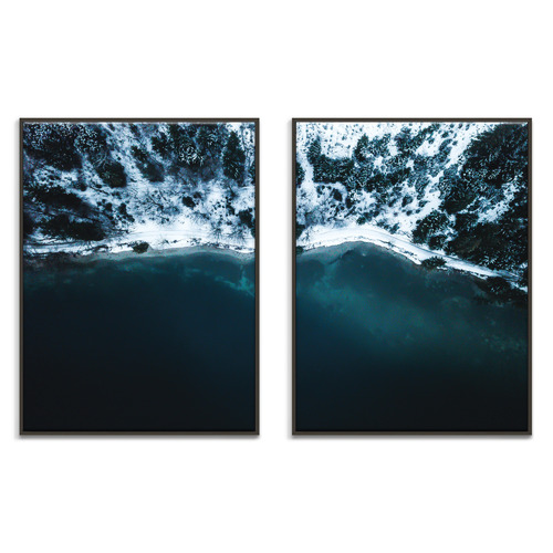 Our Artists' Collection 2 Piece Frozen Hill Side Printed Wall Art Set