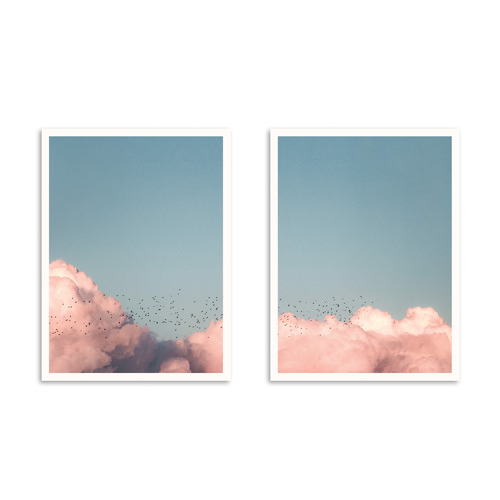 Our Artists' Collection 2 Piece Flock Printed Wall Art Set