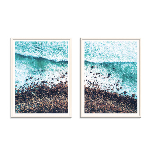 Our Artists' Collection 2 Piece Rocky Beach Printed Wall Art Set