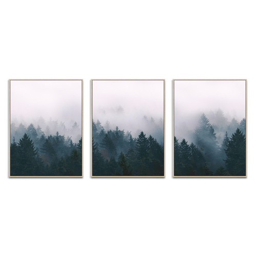 Our Artists' Collection Pine Forest Printed Wall Art Triptych