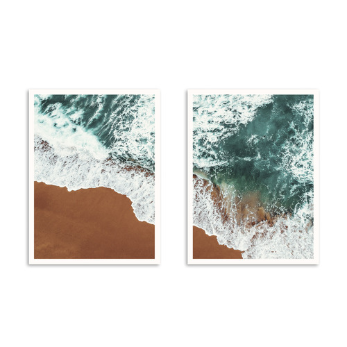 Our Artists' Collection 2 Piece White Water Printed Wall Art Set