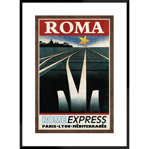 Spyglass Gallery Train Roma Framed Printed Wall Art