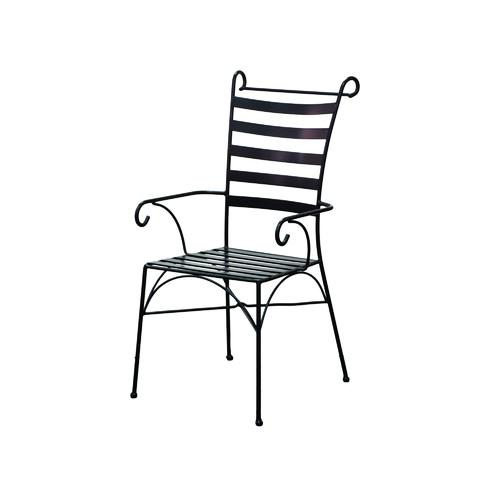 Cast Iron Outdoor Black Wrought Iron Venice Armchair