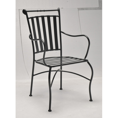 Adele Wrought Iron Carver Chair  Temple  Webster