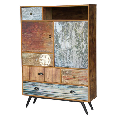 Cast Iron Outdoor Indiana Rustic 5 Drawer Cabinet
