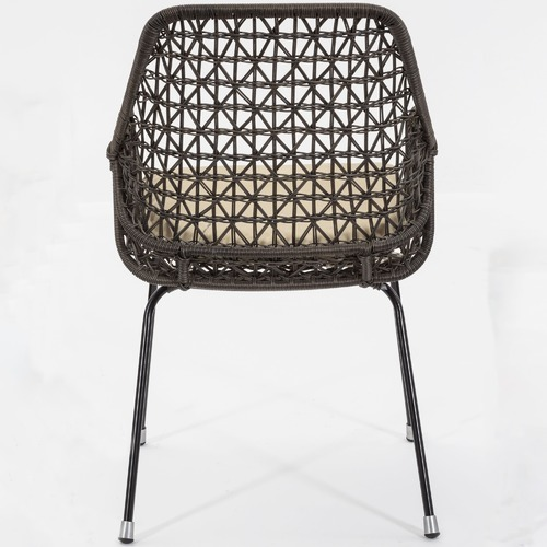 Cast Iron Outdoor Brown Zena Outdoor Chair