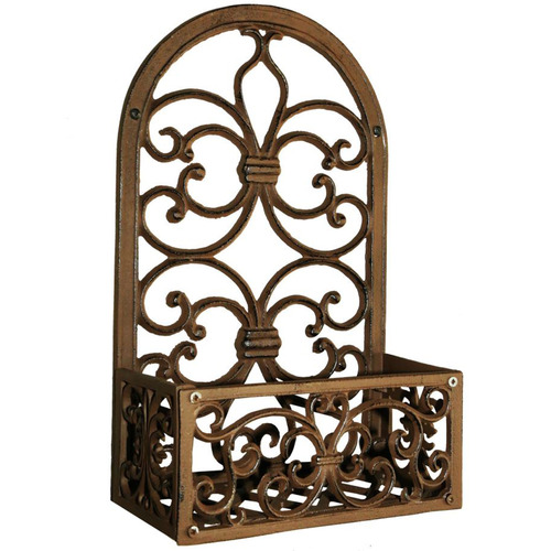Cast Iron Outdoor 27cm Wall Mounted Cast Iron Plant Holders