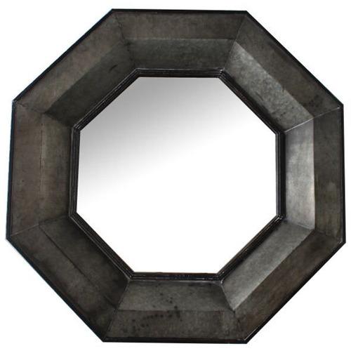 Cast Iron Outdoor Viking Octagonal Metal Mirror