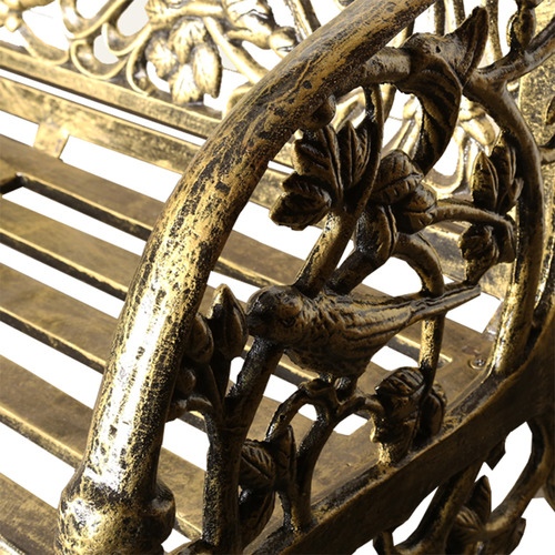 Cast Iron Outdoor Large Cameo Bench