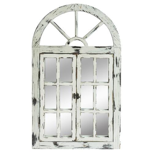 Rustic White Scarlett Window Mirror