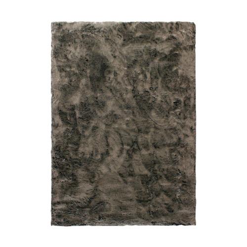 faux fur grey rug temple webster. Black Bedroom Furniture Sets. Home Design Ideas