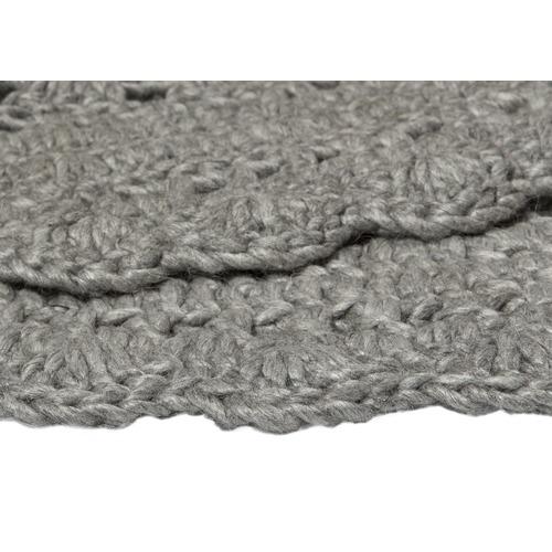 Ground Work Rugs Silver Hooks Hand Woven Wool & Viscose Round Rug