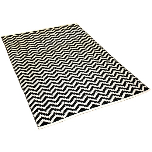 Ground Work Rugs Black Parker Hand-Knotted Cotton Rug