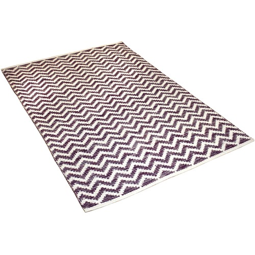 Ground Work Rugs Purple Parker Hand-Knotted Cotton Rug