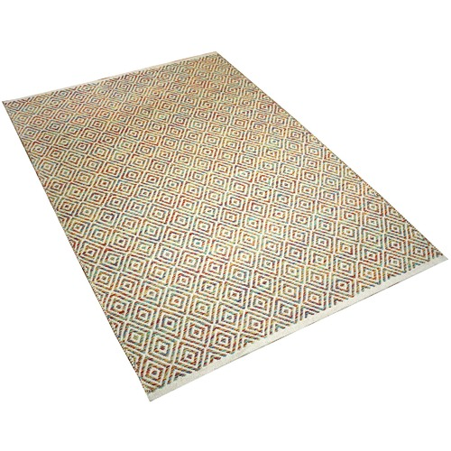 Ground Work Rugs Rainbow Squares Hand-Knotted Cotton Rug
