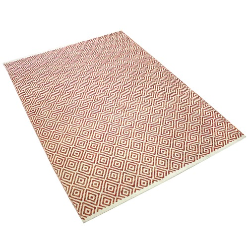Ground Work Rugs Rust Squares Hand-Knotted Cotton Rug