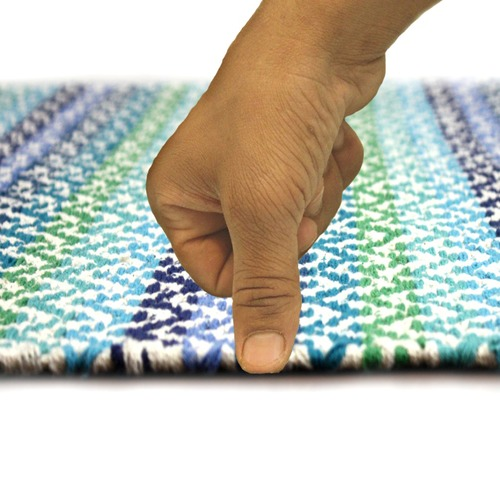 Ground Work Rugs Blue Tiskoni Hand-Knotted Cotton Rug