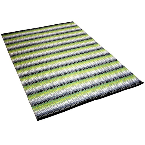 Ground Work Rugs Green Tiskoni Hand-Knotted Cotton Rug