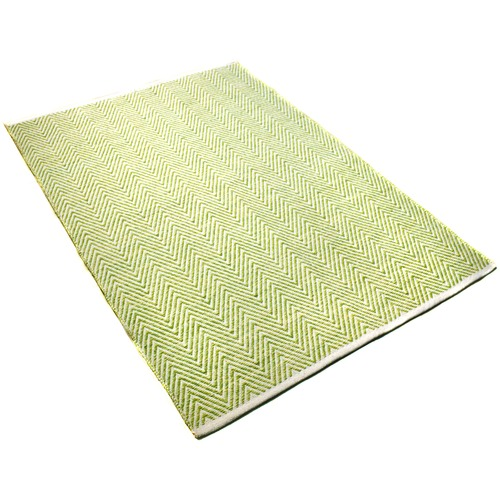 Ground Work Rugs Green Tye Hand-Knotted Cotton Rug