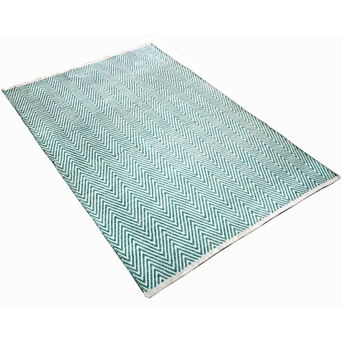 Ground Work Rugs Turquoise Tye Hand-Knotted Cotton Rug