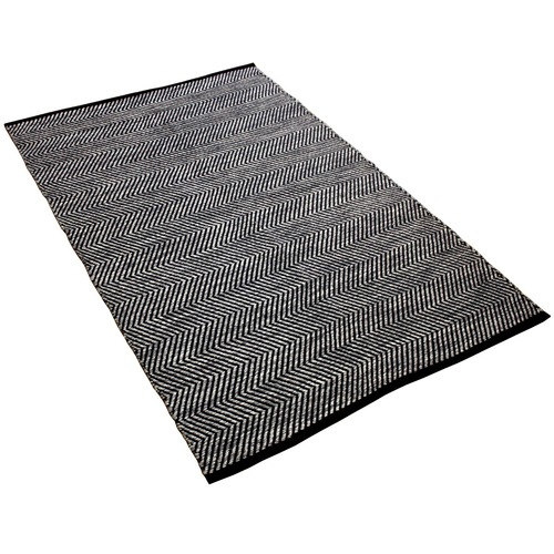 Ground Work Rugs Grey Ziggy Hand-Knotted Cotton Rug