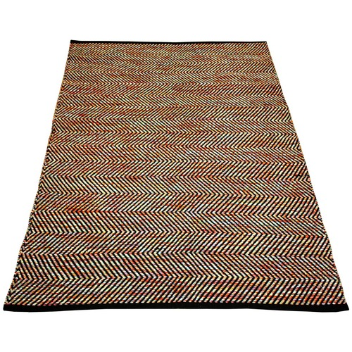Ground Work Rugs Multi-Coloured Ziggy Hand-Knotted Cotton Rug