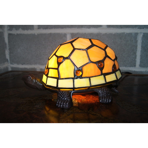 Tiffany Emporium Cute Turtle Tiffany Accent Lamp