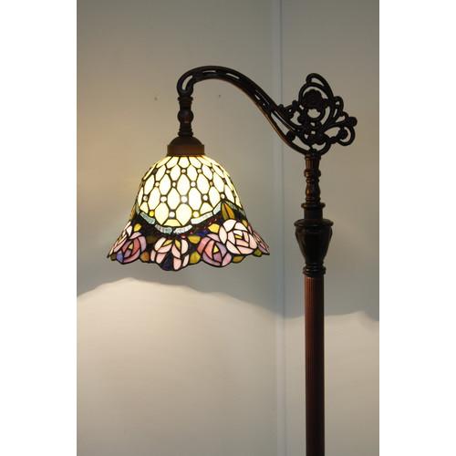 Tiffany Emporium Collection Rose Bridge Arm Tiffany Floor Lamp ...