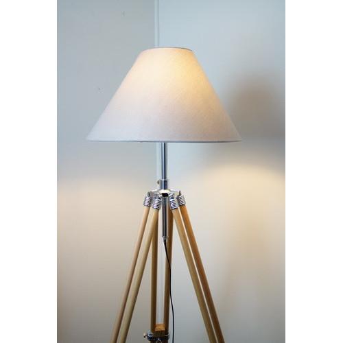Nautical Tripod Floor Lamp In Beige Temple Webster