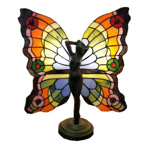 Butterfly Fairy Accent Tiffany Table Lamp | Temple & Webster