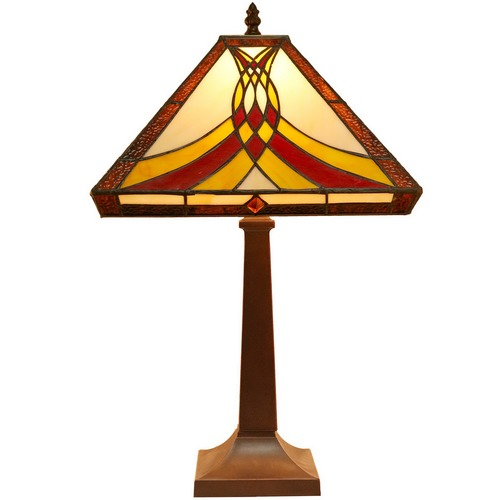 Tiffany emporium collection rainbow tiffany style bedside lamp