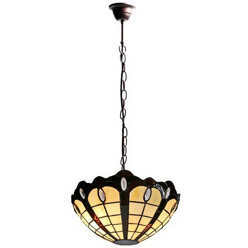 Victoria Dome Tiffany Style Pendant Light Temple Webster