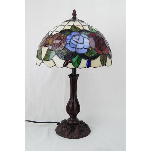Tiffany Emporium Rose Leadlight Tiffany Style Table Lamp