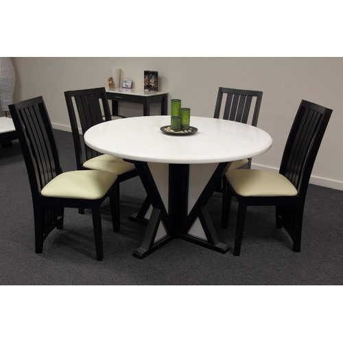 Lisa Round Marble Dining Table in Rainbow LightTempleWebster