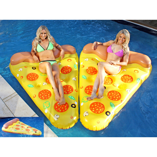 Splash Time Giant Pizza Slice With Drink Holders