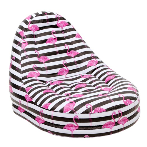 Splash Time Flamingo Stripe Inflatable Pool Chair