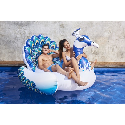 Splash Time Giant Peacock Pool Float