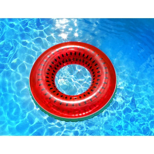 Splash Time Watermelon Fruit Tingle Inflatable Swim Ring