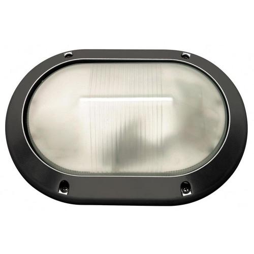 Led Wall Light Crompton: Two Light Fluorescent Outdoor Oval Flush Wall Lantern